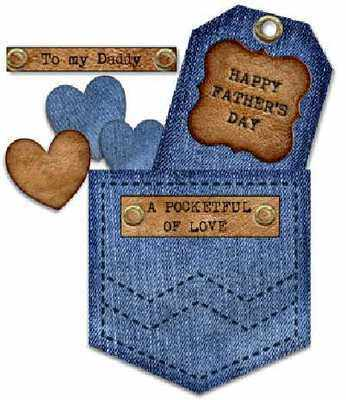 Denim Pocket topper, Father's Day
