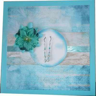 Gift card with Turquoise Earrings