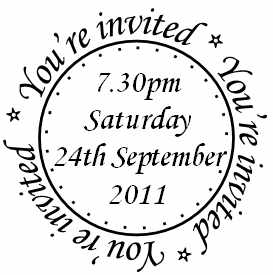 Personalised Invitation circle stamp