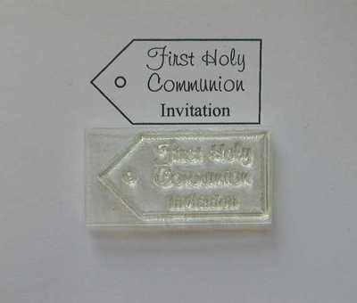 Tag stamp, First Holy Communion Invitation