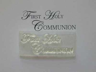 First Holy Communion, upper case stamp