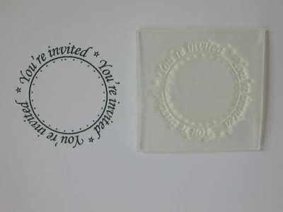 Invitation circle stamp
