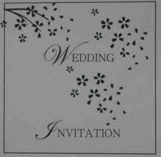 Wedding invite ex