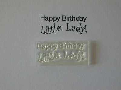 Happy Birthday Little Lady! stamp