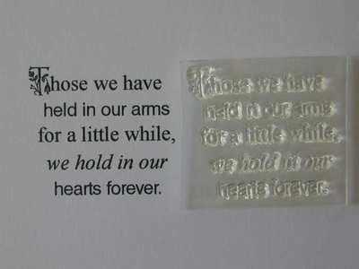 Sympathy verse stamp, Those we have held