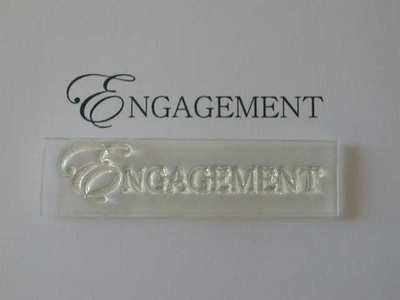 Engagement, upper case stamp