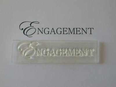Engagement, upper case stamp