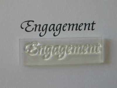 Engagement, stamp