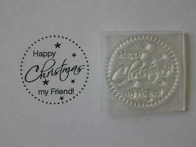 Happy Christmas my Friend! dotty circle stamp