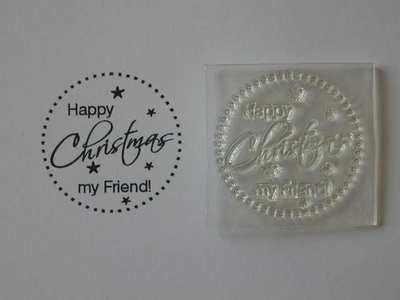 Happy Christmas my Friend! dotty circle stamp