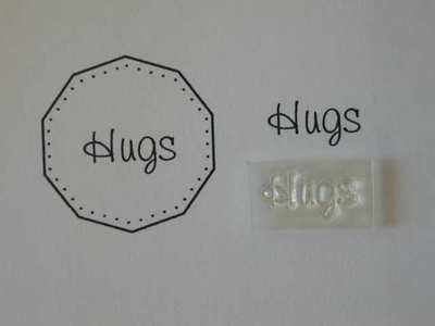 Hugs, little words stamp