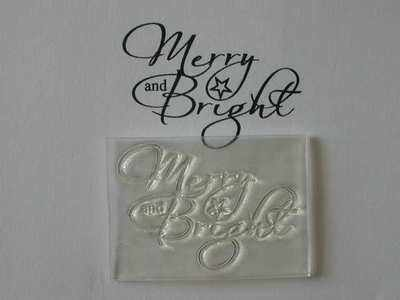 Merry & Bright Christmas stamp