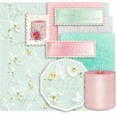 Pamper Day, digital card topper kit