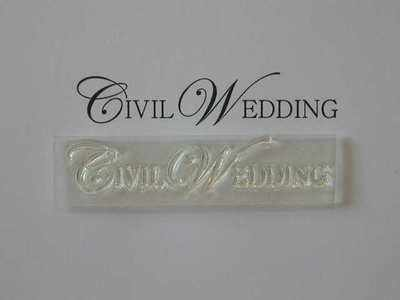 Civil Wedding, upper case stamp