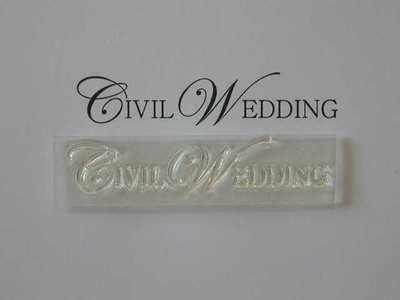 Civil Wedding, upper case stamp