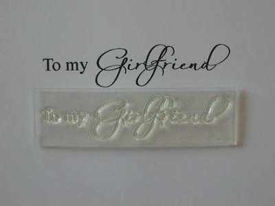 To my Girlfriend, stamp