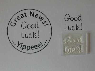 Good Luck, Little Words stamp