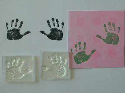 Baby Handprints stamps
