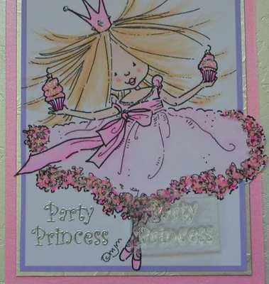 Party Princess, clear text stamp