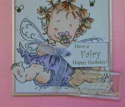Tag stamp, Have a Fairy Happy Birthday!