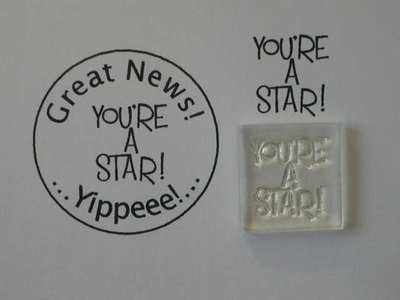 You're a Star! Little Words stamp