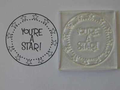 You're a Star! circle stamp