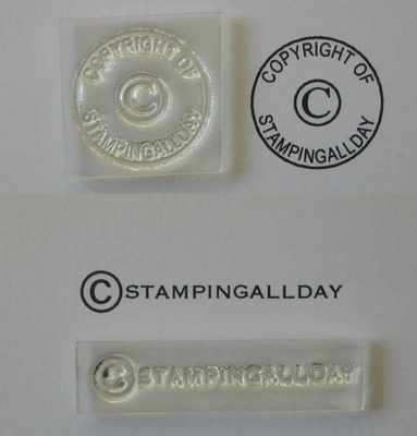 Copyright stamps to personalise