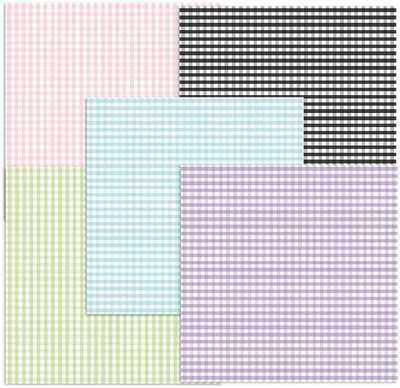 Gingham digi backing papers