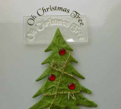 Oh Christmas Tree, curved text stamp