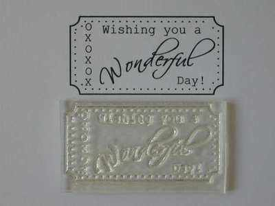 Ticket stamp to fit Tim Holtz die, Wonderful Day