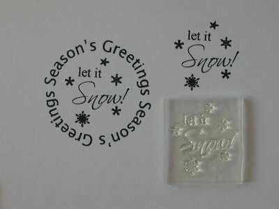 Let it Snow! little stamp