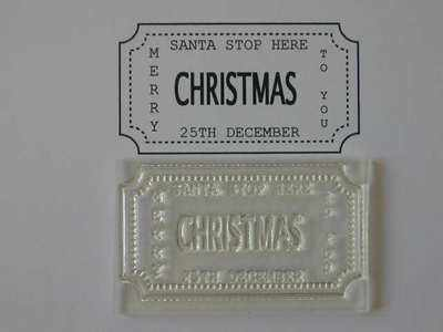 Christmas Ticket stamp, Santa Stop Here