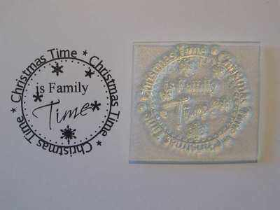 Circle stamp, Christmas Time is Family Time