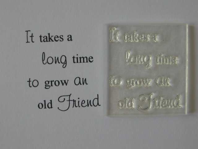 Grow an old Friend verse