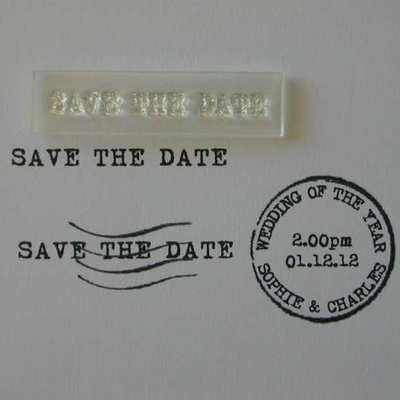Save the Date, little typewriter stamp