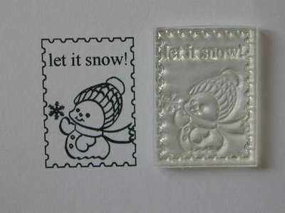 Christmas postage stamp, little snowman