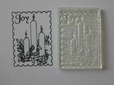 Christmas postage stamp, candles