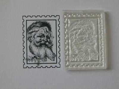 Christmas postage stamp, vintage Santa