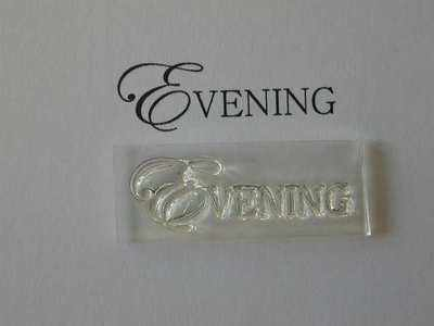 Evening, upper case stamp