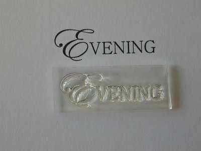 Evening, upper case stamp