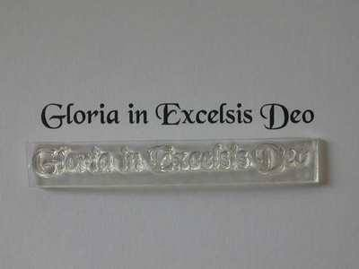 Latin Christmas stamp, Gloria in Excelsis Deo