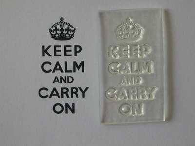 Keep Calm and Carry On, stamp