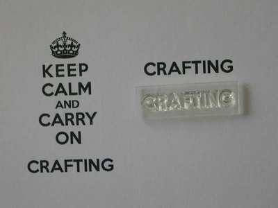 Crafting stamp for Keep Calm