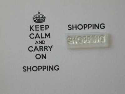 Shopping stamp for Keep Calm