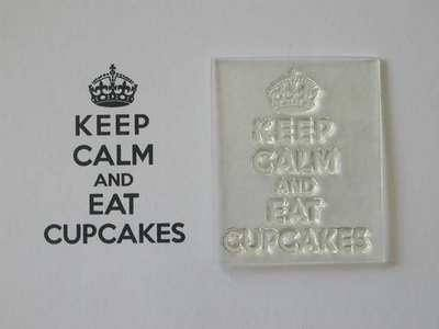 Keep Calm and Eat Cupcakes, stamp