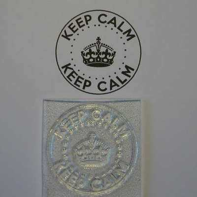 Keep Calm circle stamp