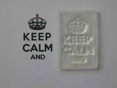 Keep Calm and, stamp