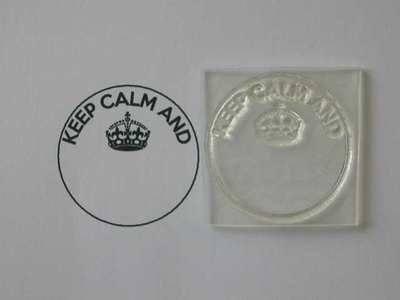 Keep Calm and circle stamp