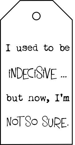 indecisive example