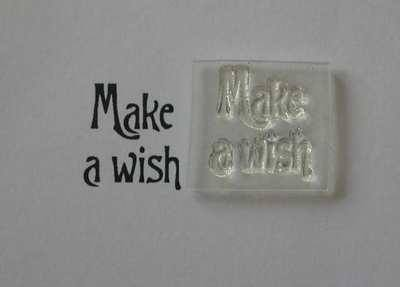 Victorian style Make a Wish stamp
